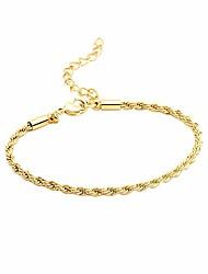 cheap -vavily gold rope bracelet for women 18k gold plated 3mm diamond-cut rope chain bracelet