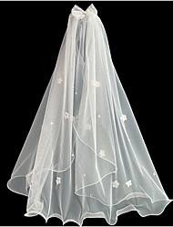 cheap -One-tier Cute Wedding Veil Elbow Veils with Satin Bow 23.62 in (60cm) Lace / Tulle
