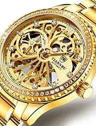 cheap -automatic mechanical watch men's tourbillon hollow diamond steel belt luminous waterproof watch