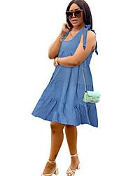 cheap -3064-01#amazon ebay aliexpress wish european and american foreign trade women's blue denim sling cake skirt