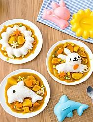 cheap -Kitchen Mold Sushi Maker Japanese Style DIY Kids Bento Tool Rabbit Dolphin Sushi Maker for Rice Onigiri Sandwich Cake Punch Mould