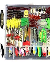 cheap -280 pcs Lure kit Fishing Lures Hard Bait Soft Bait Spoons Minnow Pencil Popper Vibration / VIB lifelike 3D Eyes Bass Trout Pike Sea Fishing Lure Fishing Freshwater and Saltwater