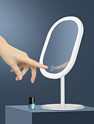 cheap -Desktop Single-sided Led Mirror USB Rechargeable Led Bathroom With Light Can Rotate 90 Degrees To Fill Light Makeup Mirror