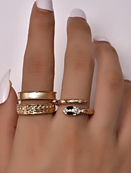 cheap -Ring 3-Piece Gold Alloy Snake Fashion Vintage Classic 3pcs 8 / Women's / Adjustable Ring