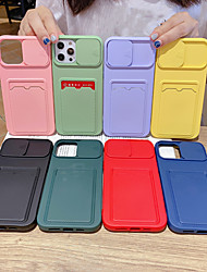 cheap -Phone Case For Apple Back Cover iPhone 12 Pro Max 11 SE 2020 X XR XS Max 8 7 6 Card Holder Shockproof Dustproof Solid Colored TPU