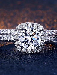 cheap -fashion square inlaid zircon ring style popular ladies hand jewelry
