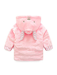 cheap -Flannel Bathrobe for Baby, Cute Pink Rabbit Soft Absorbent Home Wear Children's Animal Bathrobe