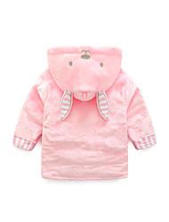 cheap -Flannel Bathrobe for Baby, Cute Pink Rabbit Soft Absorbent Home Wear Children's Animal Bathrobe