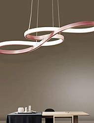 cheap -LED Pendant Light 75cm Rose Gold Green Khaki Champaign Gold Desert Rose Gold Acrylic Dimmable Chandelier Adjustable Ceiling Hanging Lamp for Home Livingroom Lighting