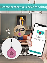 cheap -Silicone Protective Case For Airtags Key Finder Cover Anti-lost Anti-Scratch Waterproof Protective Sleeve Soft Skin Cover For Apple Airtags Locator Tracker Accessories