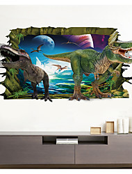 cheap -3D Broke Wall Dinosaur Park For Children's Room Home Background Decoration Can Be Removed