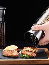 cheap -Creative Stainless Steel Mill Salt Pepper DIY Manual Bottle Grinder Glass Kitchen Tool Pepper Grinder Bottle