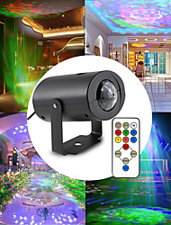 cheap -Remote Control Starry Sky Projector Ocean Wave Projector Dimmable colors Multi Color Party Indoor Holiday Projector Light