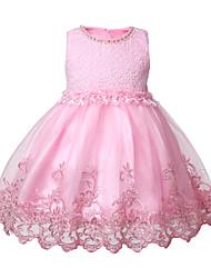 cheap -children's beaded lace dress skirt, big children's flower princess dress, girls sequined crocheted tutu skirt in stock