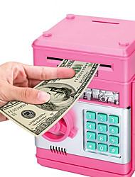 cheap -Cartoon Electronic ATM Password Piggy Bank Cash Coin Can Auto Scroll Paper Money Saving Box Gift for Kids (Pink)