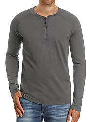 cheap -LITB Basic Men's Long Sleeve T-Shirt Solid Color Casual TopBasic Non-Printing Shirt Soft Touch Daily Wear
