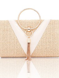cheap -Women's Bags Polyester Top Handle Bag Plain Vintage Party Daily Handbags White Yellow