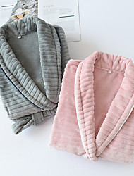 cheap -Flannel Bathrobe/Nightgown,Loose Knitted V-neck, Warm Lovers' wear, Comfortable and Soft Kimono Robe for Home