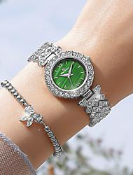 cheap -2021 new style goddess starry little green watch diamond watch female watch fashion exquisite girl watch quartz female watch