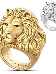 cheap -Ring 3D Gold Silver Alloy Lion Punk Rock 1pc 7 8 9 10 11 / Men's
