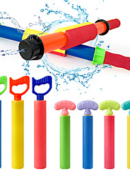 cheap -2 PCS Foam Squirt Guns Water Blaster Set, 14.6'' Colorful Water Guns Blaster Pool Toys for Kids with 30 Ft Shooting Range Summer Swimming Pool Party Outdoor Beach Sand Fighting Toys