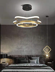 cheap -LED Pendant Light 45 cm Dimmable Nordic Gold Circle Metal Modern Style Metal Stylish Brushed Painted Finishes Modern Nordic Style 110-240 V
