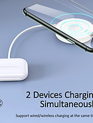 cheap -USAMS 3 In 1 Portable Wired Wireless Charger Multi-function Quick Wireless Charger Pad For iPhone 12 Pro Max Samsung S21 S20 iWatch Air pods