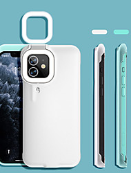 cheap -Ring Light Flash Phone Case for iPhone 12 Pro Max 11 Pro Max LED Selfie Flashlight Video Light Lamp Cellphone Case Back Cover for iPhone 7 8 Plus XS XR 11 12