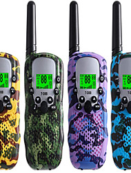cheap -Walkie Talkies for Kids Pack of 4, Long Range 3 Miles in Open Fields, Portable Handheld 22 Channels 2 Way Radio (No Battery, Camouflage)