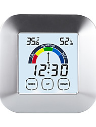 cheap -TS-S63 Portable / Multi-function Hygrometers Measuring temperature and humidity, Clock Alarm style, LCD backlight display