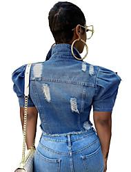 cheap -pt8792#europe and america cross-border ebay amazon wish new women's fashion camouflage denim short jacket
