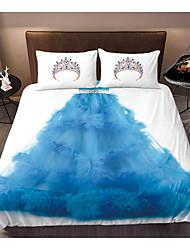 cheap -3D Printing Home Bedding Duvet Cover Sets Soft Microfiber For Kids Teens Adults Bedroom Crown Gauze Skirt 1 Duvet Cover 1/2 Pillowcase Shams