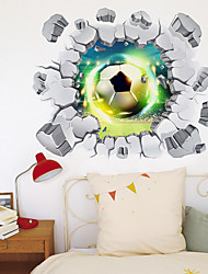 cheap -3D Broken Wall Fantasy Football Home Corridor Background Decoration Can Be Removed Stickers