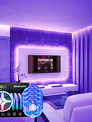 cheap -LED Strip Lights Music Sync 20M RGB 1080LEDs LED Strip 2835 SMD Color Changing LED Strip Light Bluetooth Controller and 24 Key Remote LED Lights for Bedroom Home Party