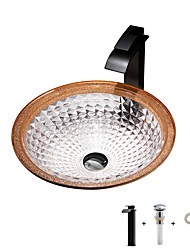 cheap -Boweiya factory wholesale modern light luxury orange gold die-cast glass wash basin with faucet basin holder drain BW20-029