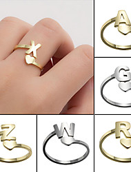 cheap -2021 new 26 english initials rings european and american simple stainless steel girls love retro jewelry wholesale