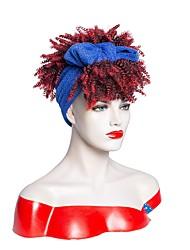 cheap -amazon cross-border new headscarf wig european and american fashion african small curly wig mechanism headgear