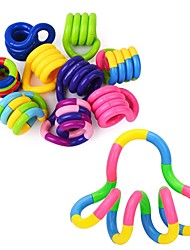 cheap -4 pcs Fidget Anti Stress Toy Twist Adult Decompression Toy Child Deformation Rope Perfect For Stress Kids To Play Toys