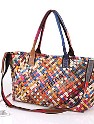 cheap -factory wholesale agent leather bags, hand-woven bags, color bags, shoulder messenger ladies bags