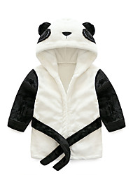 cheap -Flannel Bathrobe for Baby, Cute Panda Modeling Soft Absorbent Home Wear,Children's Animal Bathrobe