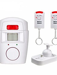 cheap -home security  alert infrared sensor anti-theft motion detector alarm monitor wireless 105db alarm system+2 remote control