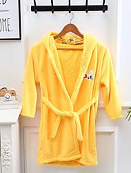 cheap -High Quality Bathrobe for Children Coral Velvet Home Nightgown Cartoon Cute Soft Easy to Dry Hooded Bathrobe
