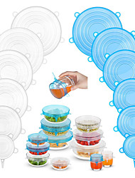 cheap -Silicone Stretch Lids 2 Color 24 Packs Zero Waste Reusable Silicon Container Lid for Cover Leftover Food and Fruit or Seal Bowl 6 12 Packs