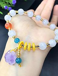 cheap -Women's Men's Clear Beige Crystal Bracelet Fancy Mini Fashion Cute Boho Natural Crystal Bracelet Jewelry Rainbow For Street School Gift Daily Club