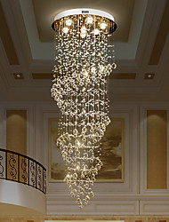cheap -Crystal Chandelier Crystal Ceiling Light 170cm Luxury Lights K9 Spiral European Modern Chandeliers Ceiling Pendant Lights Lamp Hotel Villa 7 Heads 110-120V 220-240V