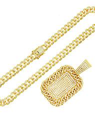 cheap -Men's Boys' Long Necklace Alloy 55 cm Necklace Jewelry 1pc For Street Festival