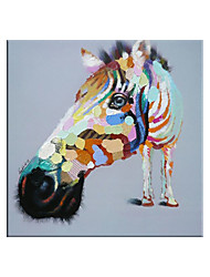 cheap -Nursery 100% Hand painted By Professional Artist Little Horses Picture Canvas Painting Wall Art Pictures for Living Room Cuadros Home Decor
