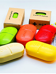 cheap -Portable mini medicine box moisture-proof for one week 6 boxes small medicine box outdoor large capsule sealed medicine box