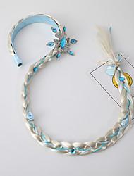 cheap -children's frozen hairband wig crown long braid european and american wind and snow headband braid girls princess headdress