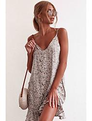 cheap -LITB Basic Women's  A-Line Floral Dress Sleeveless Floral Dress Mini Wrap Dress  Vacation Daily Stylish